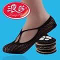 Langsha 3 Pairs/lot Lace Sock Slippers Invisible Socks Women No Show Ladies Slipper Socks Slippers Women Low Socks Sexy