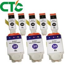 8 Pack  Ink Cartridge Compatible for Kodak 30 Easyshare ESP C110 C310 C315 OFFICE 2150 2170 HERO 3.1 5.1 1.2 3.2 3.2s