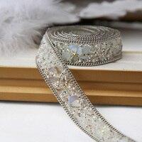 Özel high-end el dikili giyim zinciri DIY elmas taş Dekor düğün elbise aksesuarları el yapımı zincir malzemeler