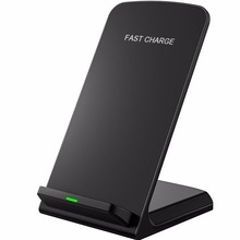 10W 9V Qi Wireless Charger Fast Wireless Charging Stand for Samsung S8 S7 S6 Edge Note 8 Quick Wireless Charger for iPhone X 8