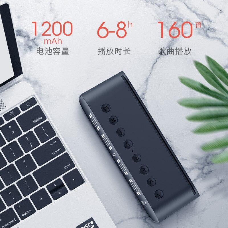 Новый светодиодный светильник с беспроводным Bluetooth динамиком мини Ультра бас пистолет будильник с зеркалом Смарт стерео - 4
