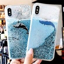 Динамичными плавающими жидкими мягкий чехол для Samsung Galaxy A6 A8 A7 A750 S9 S8 плюс S7 край A3 A5 A7 J3 J5 J7 Note 8, 9