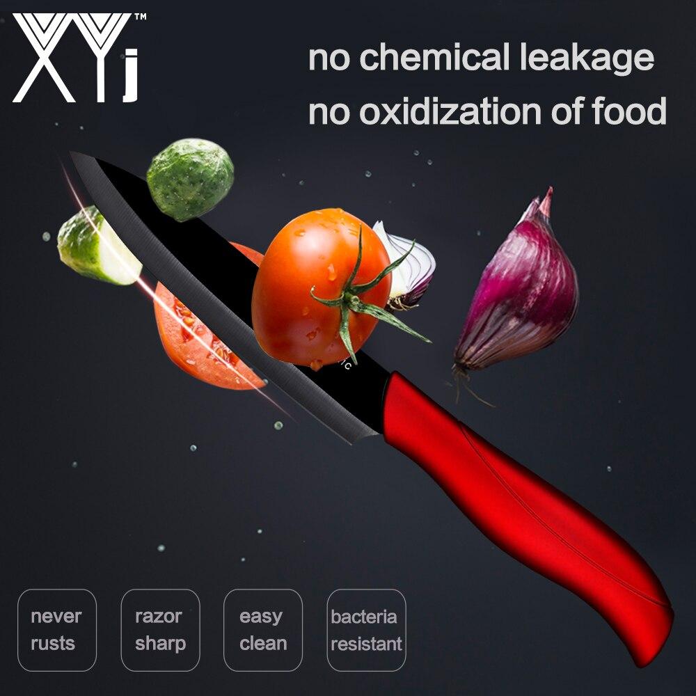 XYj Kitchen Knife Ceramic Knife Set 3 4