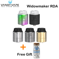 Free Gift! Original Vandy Vape Widowmaker RDA Tank 1ML VandyVape Three adjustable airflow Caps Atomizer for E Cigarette Mod Box