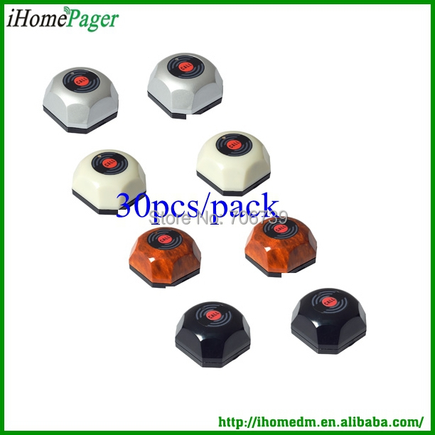 Hot sale hotel coffee house bar popular used wireless calling system waiter caller 50Buttons/pack strong signal