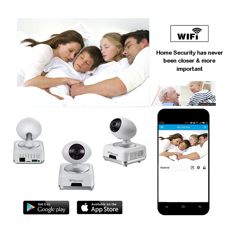 WiFi Wireless Home Security Intruder Alarm System with HD 720P Wifi IP Camera Motion Sensor and Sound Alarm Sensor escam wifi alarm system 433mhz 1527 motion detection ip camera hd 720p