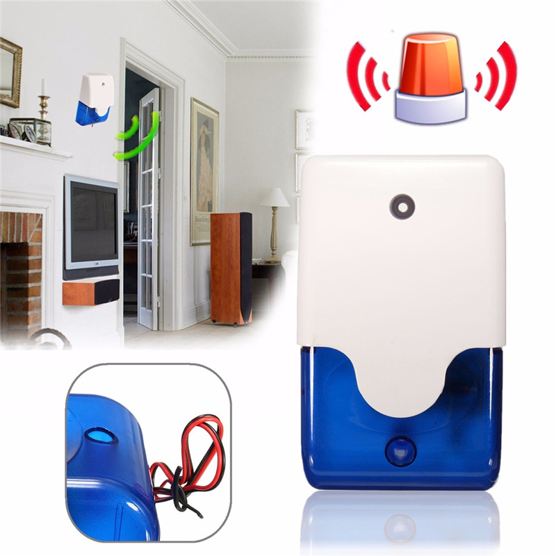Mini Wired Flashing Light Strobe Siren For Wireless Alarm Safety System 110 dB For Home Security System New Arrival High Quality new mini wired siren for my 99 zones pstn gsm wireless home alarm security system 120 db alarm accessories siren