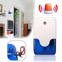 Mini Wired Flashing Light Strobe Siren For Wireless Alarm Safety System 110 dB For Home Security System New Arrival High Quality