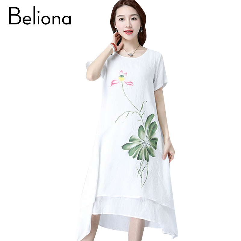 Fashion Cotton Linen Vintage Floral Print Maternity Dress Women Casual Summer Maternity Clothes Vestidos Femininos Party Dress