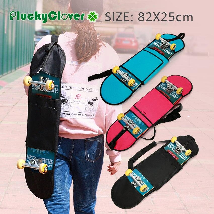 6dbb8c3ee3 1pc 82x25cm Universal Skateboard Carry Bag Longboard Carrying Bag with  Pocket Scooter Outdoor Skateboard Shoulder Multicolor Bag