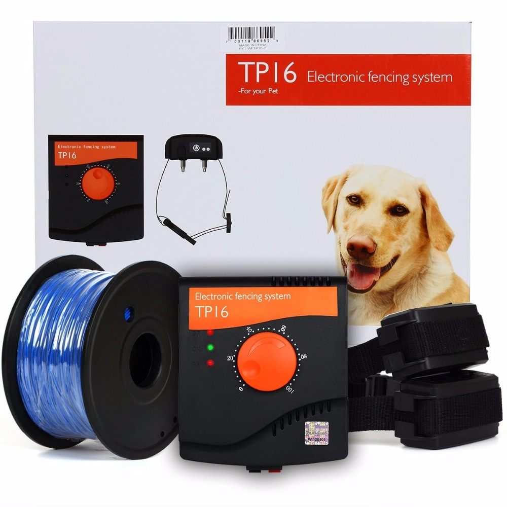Pet Fence System Dog Electric Fence Rechargeable Waterproof Shock Adjustable Dog Training Collar For Two Dogs