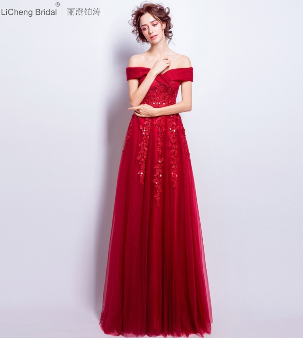 Online get cheap red short bridesmaid dresses embroidery appliques red lace appliques bridesmaid dress short sleeve off shoulder tulle lace bridesmaid dress long 2017 arabic ombrellifo Choice Image