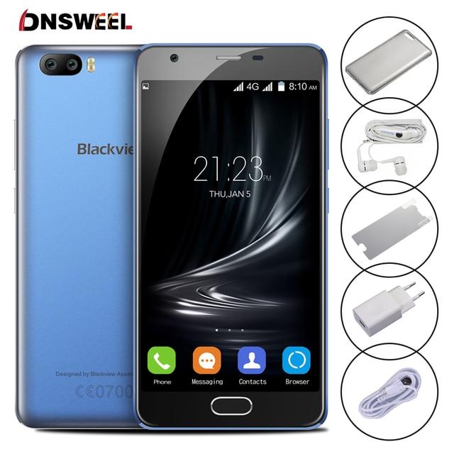 Оригинал Blackview A9 Pro Android 7.0 4 Г Смартфон MT6737 Quad ядро Мобильного Телефона 5.0 дюймов 2 ГБ + 16 ГБ Двойная Камера Заднего Вида сотовый телефон