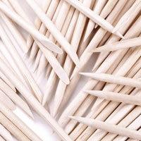 100Pcs Nail Art Orange Wood Stick Cuticle Pusher Remover Nails Care Tool