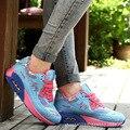 Дышащие Женщин повседневная обувь 2016 горячие моды Новые Поступления женщин обувь женская Клинья Обувь