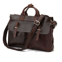 2014 Special Offer Free Shipping 100 Guarantee Excellent Vintage Cow Leather Messenger Bag Briefcase Handbag Low