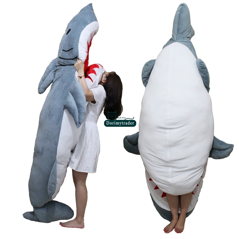 Aliexpress.com : Buy Dorimytrader Personality Animal Shark Sleeping Bag  Huge Plush Soft Sharks Beanbag
