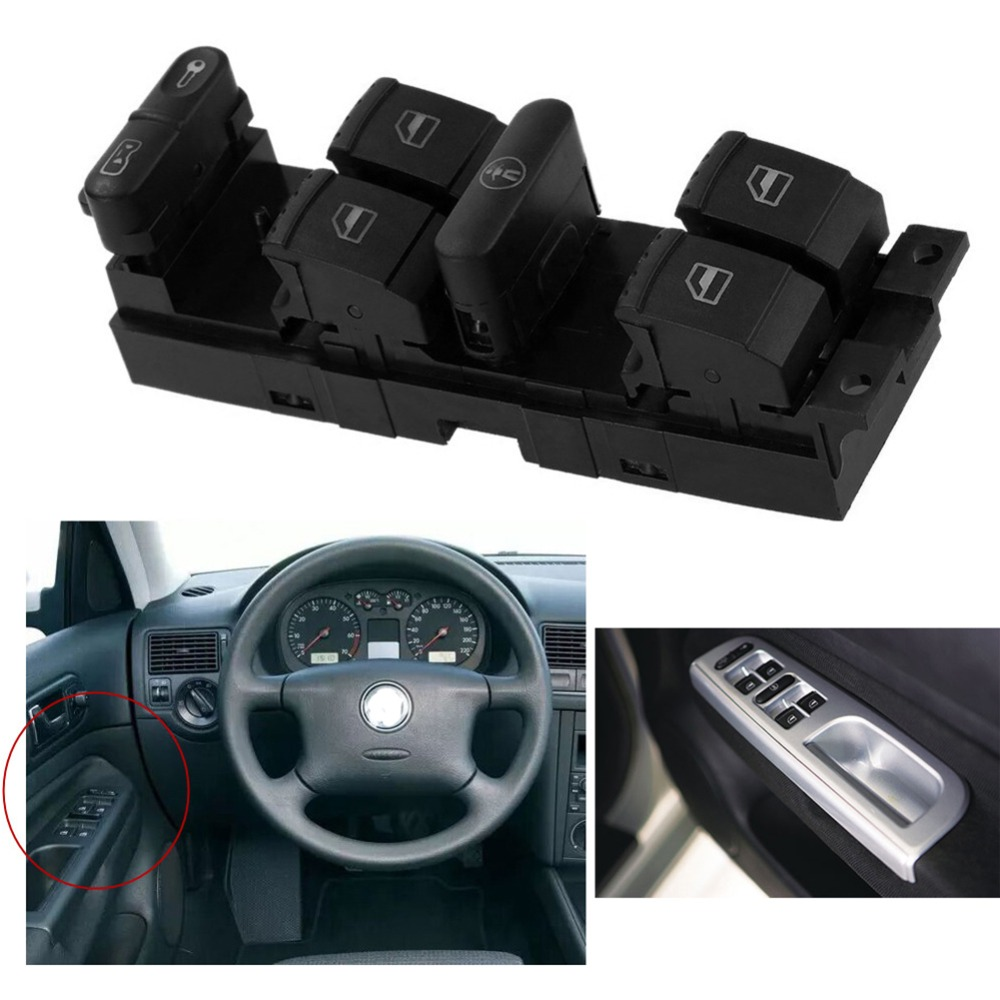 Car Window Panel Door Master Switch Control Switch Button Lifter Switch For Volkswagen Jetta Passat B5 Bora MK4 Car Accessories
