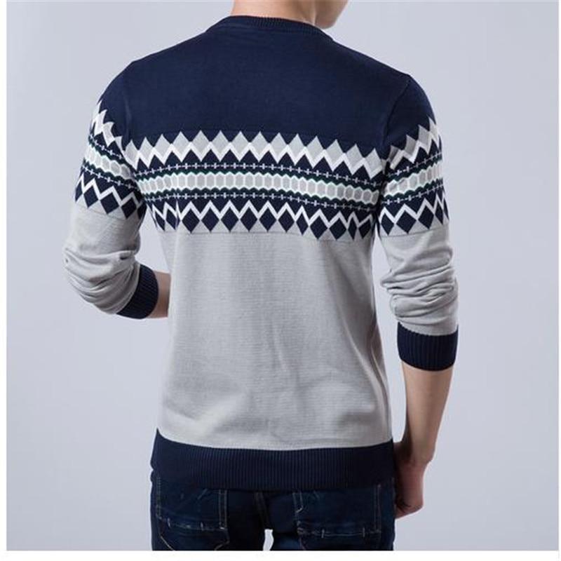2017 Baru Musim Gugur Merek Fashion Kasual Sweater O-Neck Slim Fit - Pakaian Pria - Foto 3