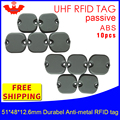 UHF RFID anti metall tag 915m 868m Impinj M4 10 stücke freies verschiffen 51*48*12 5mm Mechanische ausrüstung durable ABS passive RFID tags-in RFID-Chips und -Karten aus Sicherheit und Schutz bei