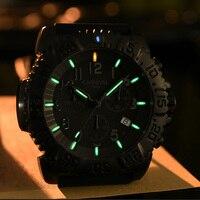 Карнавал Спорт часы с Тритиевой подсветкой для мужчин Diver хронограф s часы лучший бренд класса люкс кварцевые наручные часы световой часы
