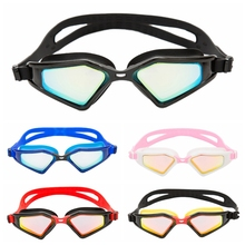 Men Women Professional Electroplate Waterproof Swim Glasses Anti Fog UV Protection Swimming Goggles Silicone Diving