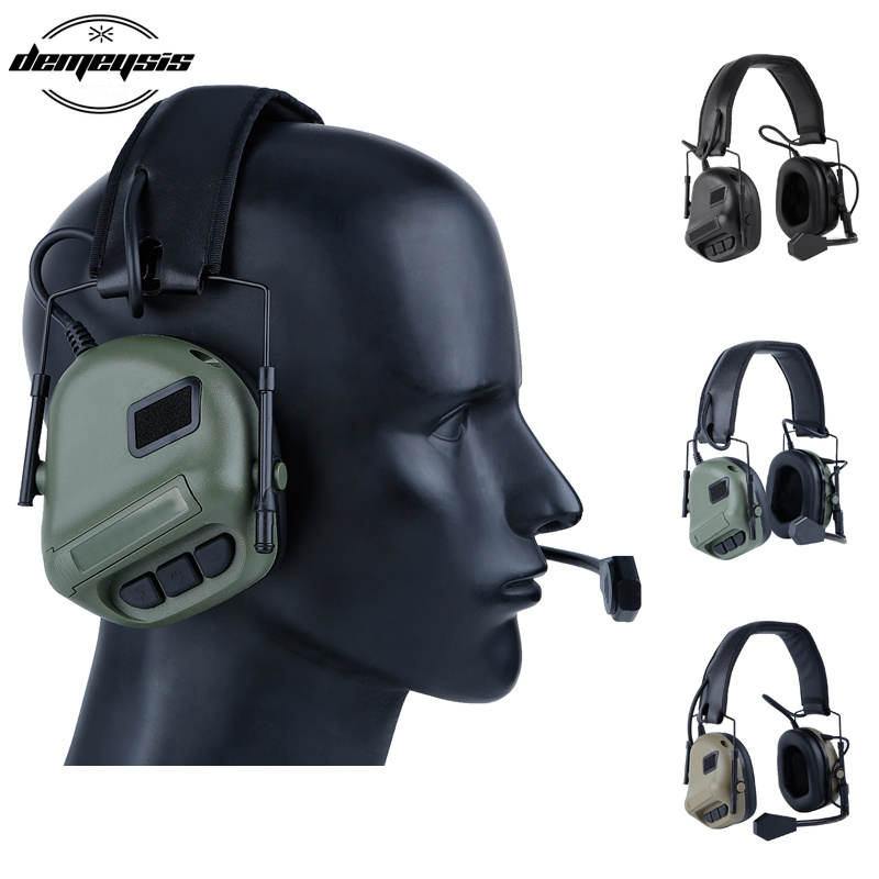Outdoor Hunting Tactical Headset Airsoft Headphone Military Shooting Headset Ear Protection EarphonesOutdoor Hunting Tactical Headset Airsoft Headphone Military Shooting Headset Ear Protection Earphones