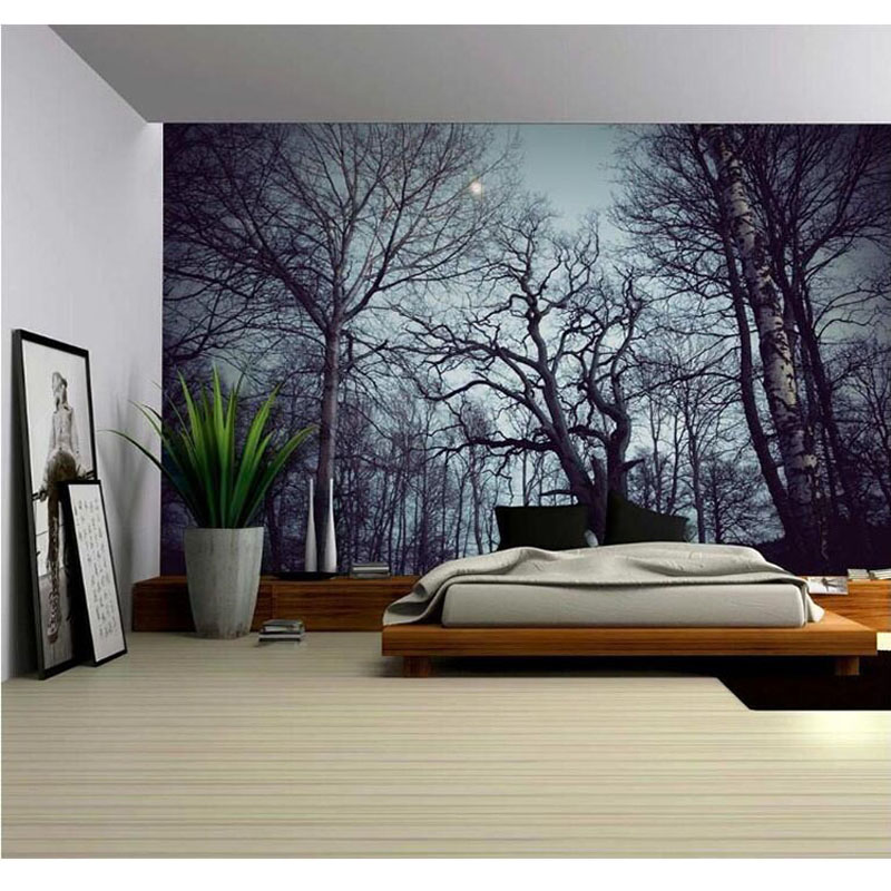 new landscape wall hanging decorative tapestry Psychedelic Forest Trees Fabric Decor Polyester Curtains Plus Long Table Cover