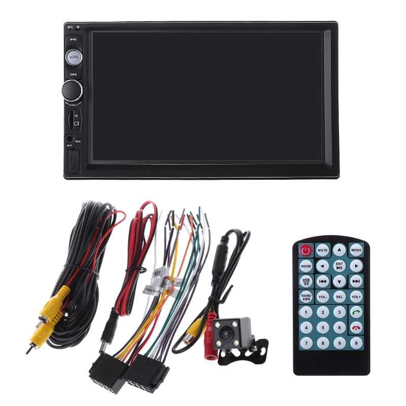"2 din car radio 7"" HD Player MP5 Touch Screen Digital Display Bluetooth Multimedia USB 2din Autoradio Car Backup Monitor"