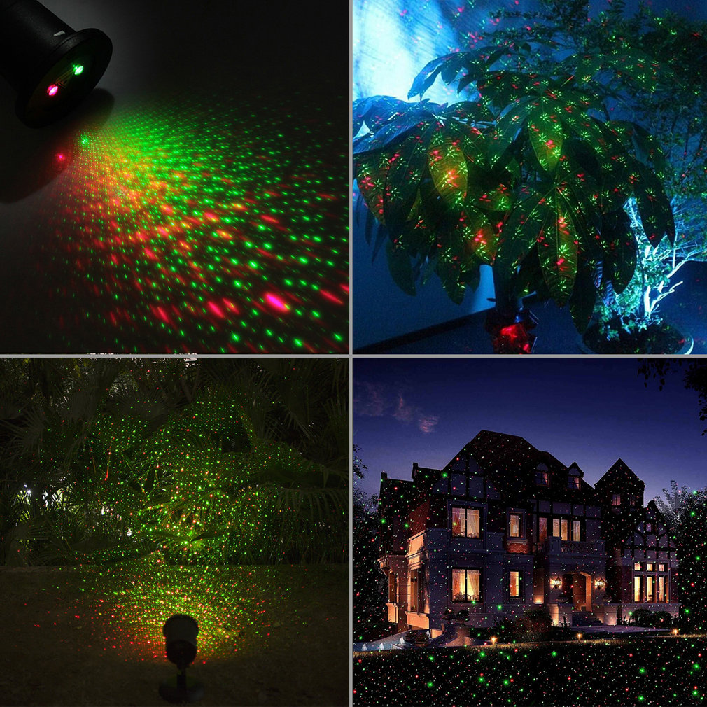 Uniek Ontwerp Aluminium IP67 Outdoor Waterdichte Mini Laserlicht 3 Kleuren LED Lamp DJ Thuis Didco Partijen Licht Decoratie