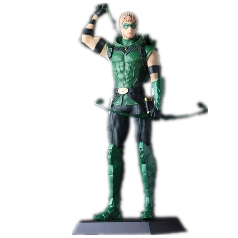 ФОТО Anime Figure Arrow PVC Action Figure Green Arrow Collection Model Superhero Toys for Children 28 cm RETAIL BOX JK-0148
