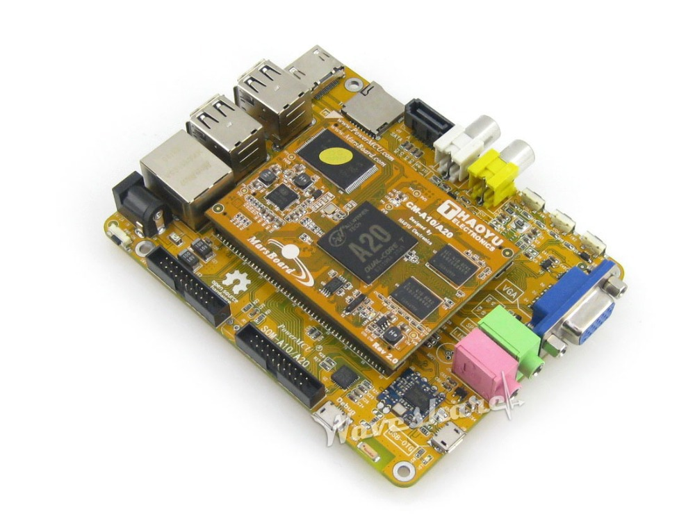 цена на MarsBoard A20 Dual core ARM Cortex A7 Dual core Mali-400 GPU mars mars board development kit