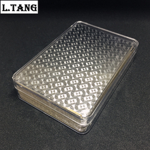 Plastic Playing Cards Acrylic Box Waterproof Poker Gold Silver Cards For Travel Party Family Game Gift L465