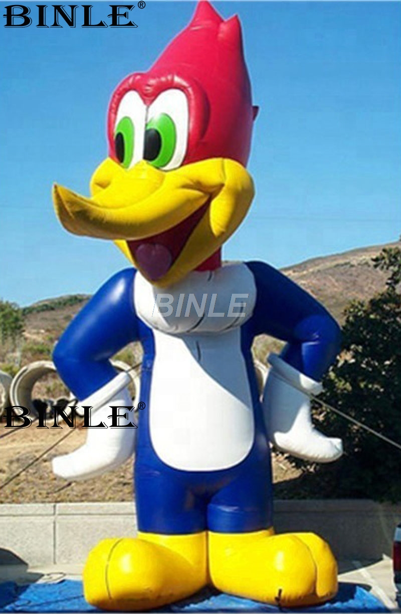 2018 new arrival lovely design standing giant inflatable duck cartoon character for promotion new arrival cartoon lilo