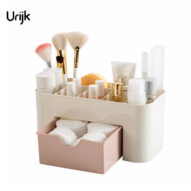 Urijk Bathroom Shelf Makeup Organizer Cosmetic Storage Box Desk Accessories  Organizer For Cosmetics Drawer Boxes For
