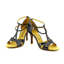 YOVE Dance Shoe PU Women's Latin/ Salsa Dance Shoe 3.5″ Slim High Heel More Color w134-21