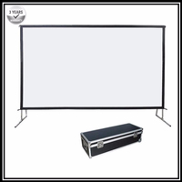 P1HWG, 16:9 HDTV Heavy duty Portable Fast fold deluxe folding projection screen with front and rear projection screen