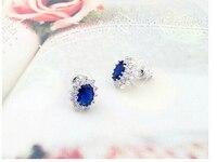 горячий продажам 2015 элегантный уильям и кейт королевский синий свадьба устанавливает кольцо колье и серьги комплект бесплатная доставка