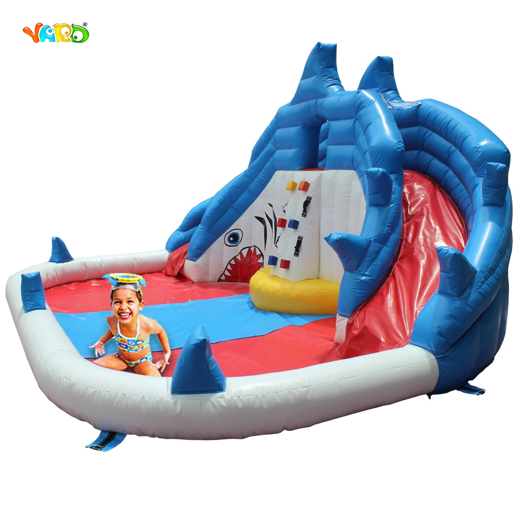 Crocodile Inflatable Water Slide Water Park With Water Pool popular best quality large inflatable water slide with pool for kids
