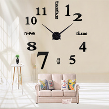 Hot Sale New Large Wall Clock 3d Diy Acrylic Mirror Home Decoration Clocks Watch Stickers Quartz Balcony/courtyard Needle