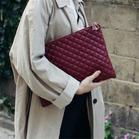2017Diamond Lattice Women Day Clutch Bag PU Leather Women Clutches Ladies Hand Bags Envelope Bag Luxury