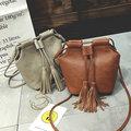 Tassel bucket bag 2017 new design women handbag mini leisure female messenger bags shoulder crossbody bags special gift for girl