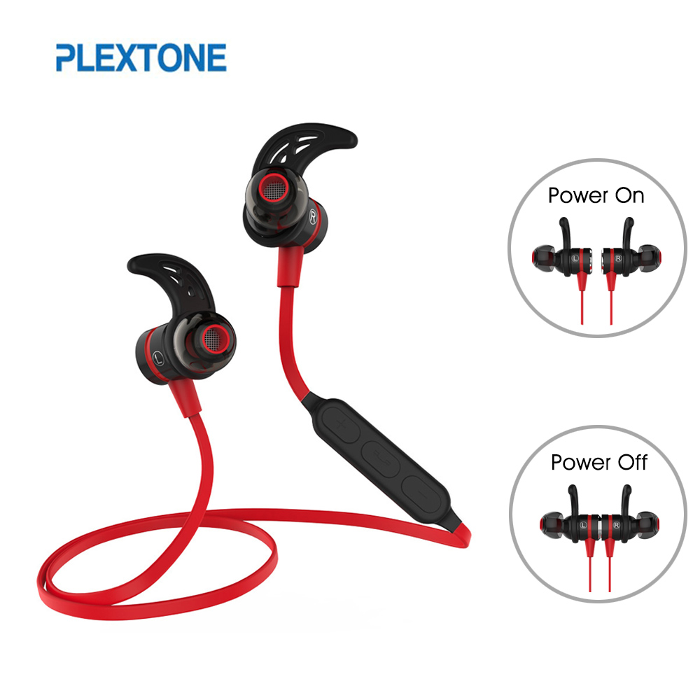 Plextone BX335 Bluetooth Earphone Wireless With Microphone Metal Magnetic Stereo Gaming Headset For Phone Sport Fones De Ouvido headset 4 1 wireless bluetooth headphone noise cancelling sport stereo running earphone fone de ouvido for xiaomi iphone huawei