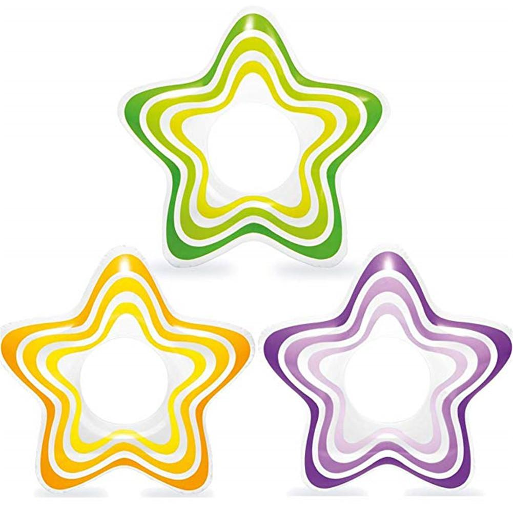 Inflatable Star Shape Swimming Float Ring Toys Swimming Pool Accessories For Summer Baby Swimming Ring Pool Rafts