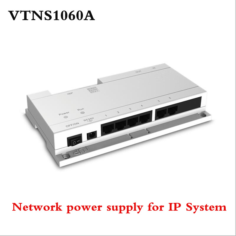 ahua VTNS1060A Video Intercom POE Switch for IP System Connect max 6 indoor monitors with the Cat 5e cable for vto2000a original ahua english version vth1510ch color monitor with vto2000a outdoor ip camera video intercom system with vtob108 box