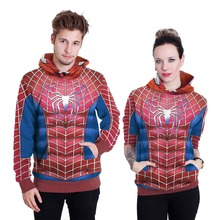 Cosplay costumes COS Cosplay Spider-Man long-sleeved hooded sweater Unisex lovers clothing