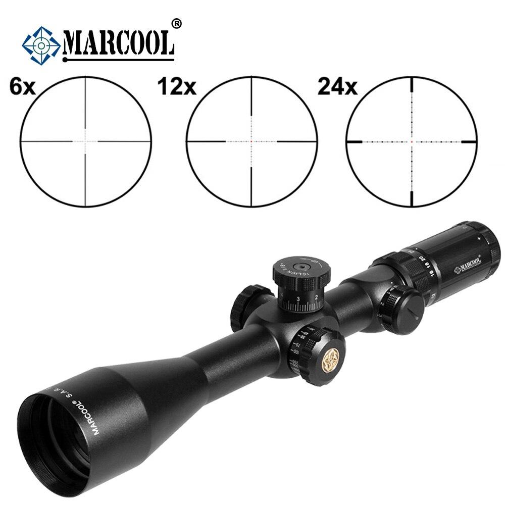 MARCOOL Pneumatique Arme EVV 6-24X50 SFIRGL FFP Tactique But Chasse Lunette De Visée Optique Calibré Collimateur Sight