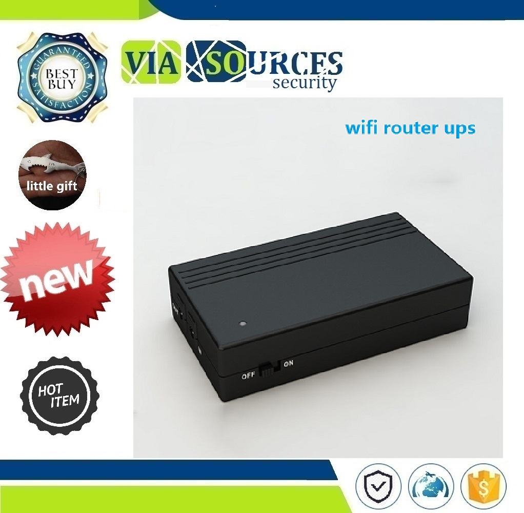 Cctv Camera DVR NVR With DC Input DC Output 12V 2A Ups Portable Power Supply 12 Volt Ups Backup Battery