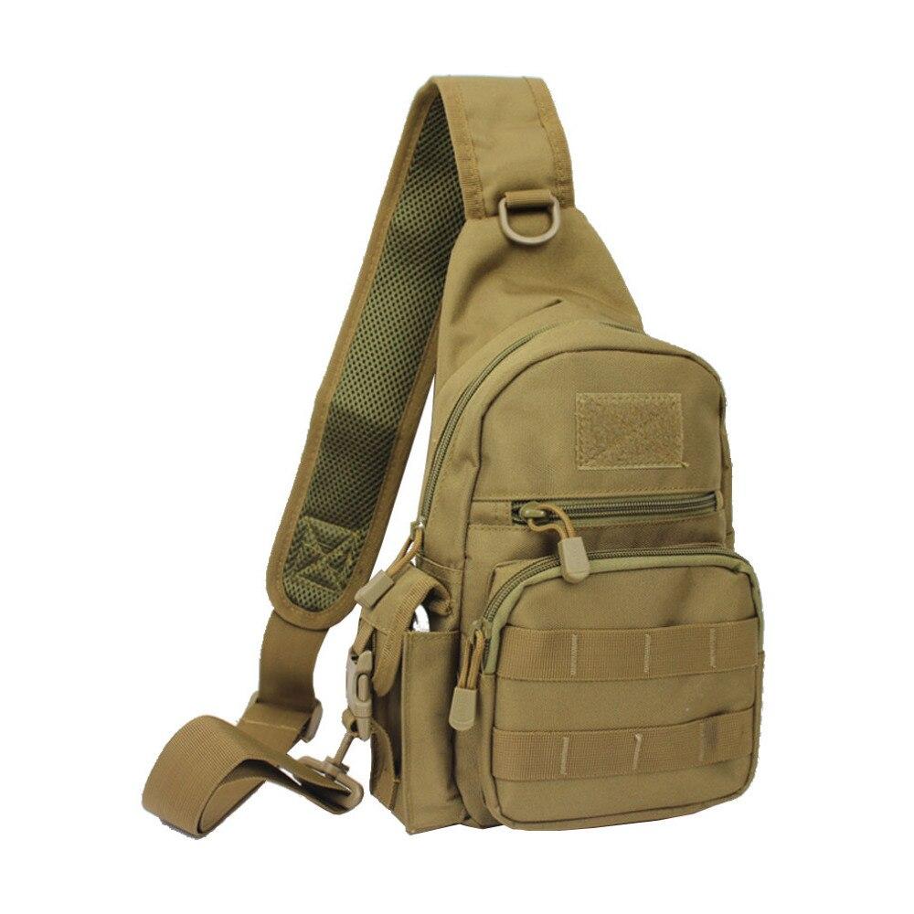 Black Sling Chest Bag Men 1000D Nylon Military Travel Shoulder Messenger Pack Crossbody Bags Waterproof Chest Bag DropShipping