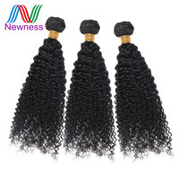 Newness 100% Remy Hair Peruvian Afro Kinky Curly Hair Single Bundles 12 32 inch Human Hair Weaving